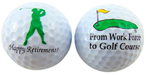 - Westman Works Retirement Golf Balls Funny Gag Gift for Golfer Gift Pack, Set of 2