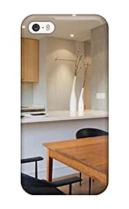 Julian B. Mathis's Shop Awesome Contemporary White And Gray Kitchen With A Brown Table Flip Case With Fashion Design For Iphone 5/5s 6249591K35260838