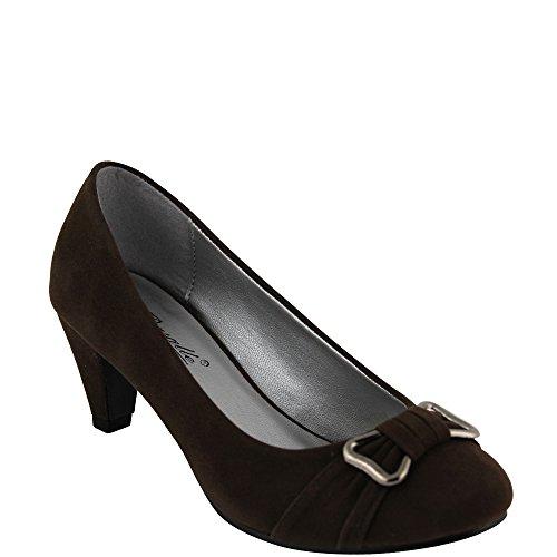 Unbekannt - Zapatos de vestir de Material Sintético para mujer Marrón - marrón