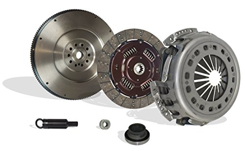 Clutch And Flywheel Kit Works With Ford F250 F350 F59 F Super Duty Base XL Lariat XLT Eddie Special 1994-1997 7.3L V8 DIESEL OHV Turbocharged Naturally Aspirated