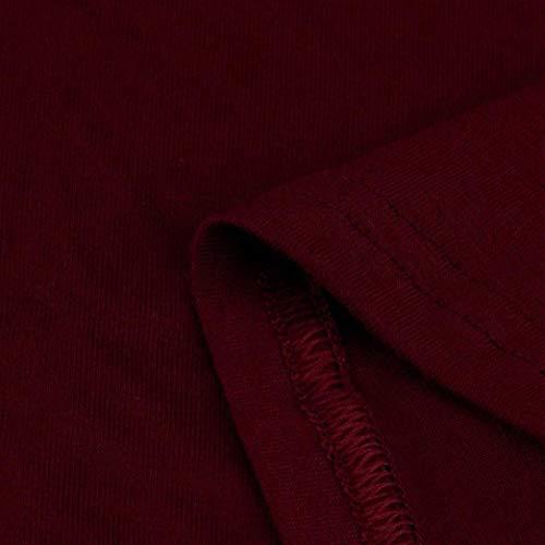 Ofertas Mujeres Ropa Casual Grande Mujer Vestido Faldas Suelto Vine Largas Mujer Zolimx Camiseta Vestidos Talla 2018 Cuello Larga Mangas de Verano de Redondo TFwYAq