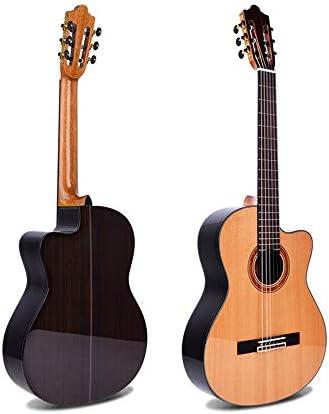 ギター レッドパイン単板クラシックギタークラシックギターのための専門のパフォーマンス アコギ 初心者 (色 : Natural, Size : 39 inches)