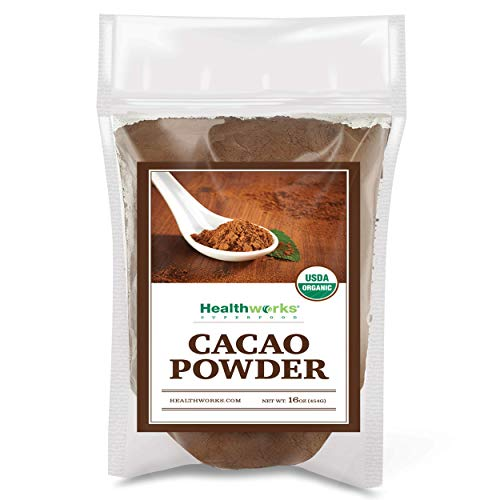 Healthworks Cacao Powder Organic 1 Pound (Stevia Powder Vs Stevia In The Raw)