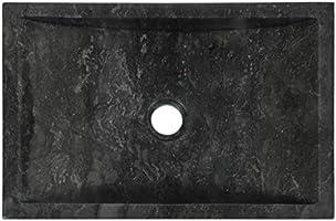 vidaXL Lavabo Sanitario Ba/ño Servicio Casa Fregadero Piezas de Fontaner/ía Bricolaje Instalaci/ón Decoraci/ón Aseos Grifer/ía 45x30x12 cm M/ármol Crema Piedra Natural