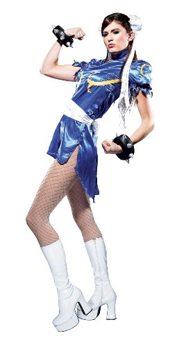Paper Magic Street Fighter Chun Li Costume, Blue/White, Large ()