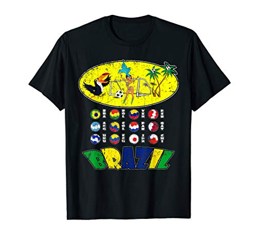 All 12 National Soccer Teams to Brazil with Samba T-Shirt ()