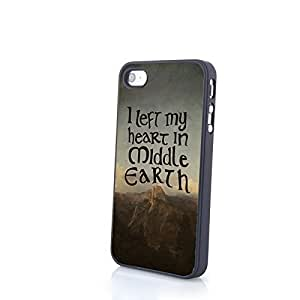 I Left My Heart In Middle Earth IPhone 4/4S 5/5S/5C Samsung Galaxy S3/S4/S5 Note2/Note3 Matte Plastic Cases