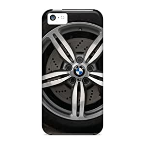 Awesome Bmw M5 Touring Wheel Section Flip Cases With Fashion Design For Iphone 5c