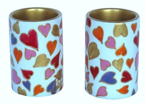 Holders or pillar shaped votive candle holders of hand painted porcelain. Luxury gift box. Perfect for her (Luxury Votive)