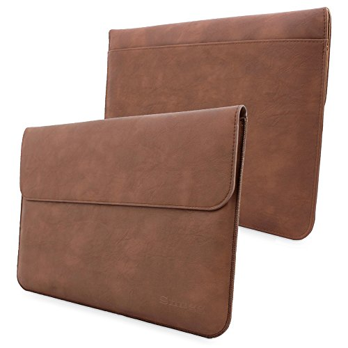 Surface Pro - Pro 4 and Pro 3 Sleeve - Snugg - Brown Leather Sleeve Case Protective Cover for Surface Pro - Pro 4 and Pro 3