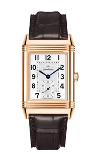Jaeger LeCoultre Reverso Grande Classique 976 Silver Dial Brown Leather Mens Watch Q3732520 (Jaeger Lecoultre Grande)