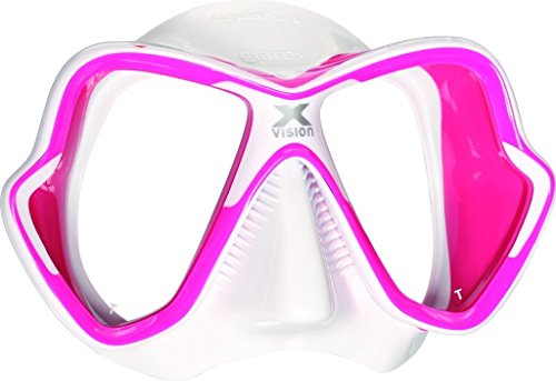 - Mares X-Vision Liquid Skin Dive Mask, Pink/White