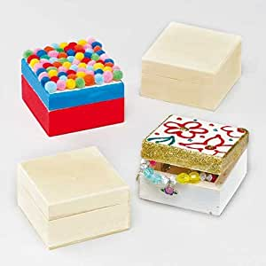 Cajas de Madera para Guardar Recuerdos (Pack de 6): Amazon.es: Juguetes y juegos