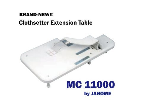 JANOME Memory Craft 11000 Clothsetter Extension Table Sewing Machine MC by Janome