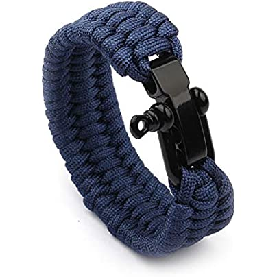 LZYZOY Braided Bracelet For Men Women Paracord Rope Wristband Male Jewelry Estimated Price £17.00 -