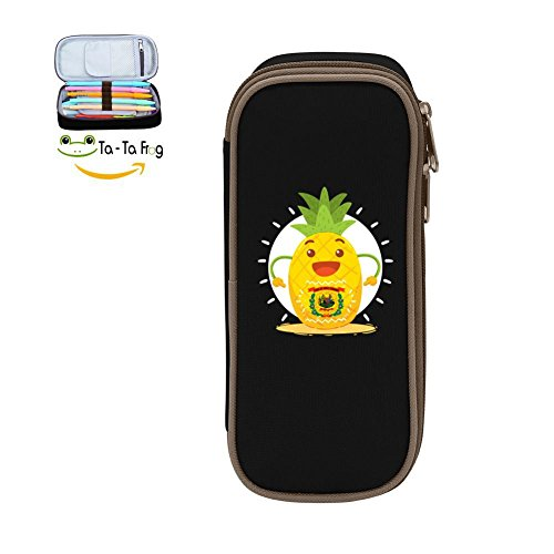 Large Capacity Canvas Mobile Phone Case Holder for Girl,Print Pineapple West Virginia Black