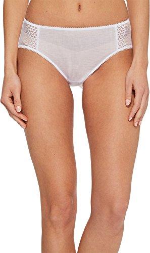 OnGossamer Women's Silk Modal Hipster Panty, White, M