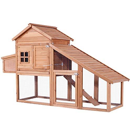 Lovupet Outdoor Wooden Chicken Coop Nest Box Hen House Poultry Pet Hutch Garden Backyard Cage 0315(Chicken Coop#4)