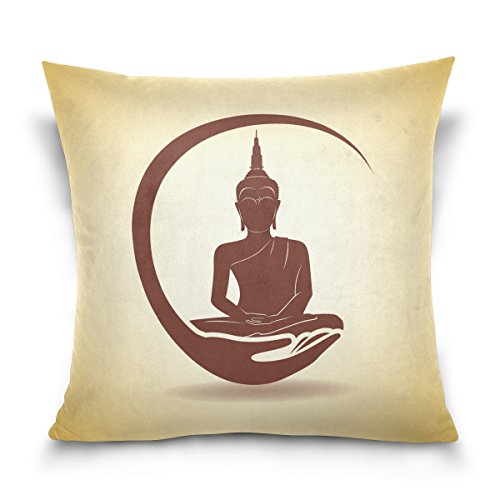 Hokkien Blue Viper Thai Silhouette Decorative Square Throw Pillow Case Cushion Cover for Sofa Bedroom Car Double-Sided Design 18 x 18 inch by Hokkien