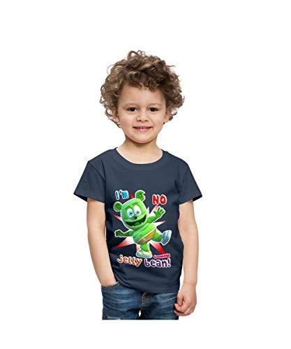 (Spreadshirt Gummibär I'm No Jelly Bean Toddler Premium T-Shirt, Youth 4T, navy)