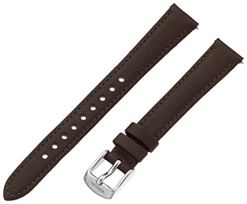 Fossil Women's S141066 Leather 14mm Watch Strap - Espresso