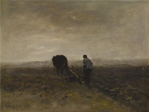 ['Anton Mauve - Early Morning Plowing, C. 1875' Oil Painting, 12x16 Inch / 30x41 Cm ,printed On High Quality Polyster Canvas ,this High Resolution Art Decorative Canvas Prints Is Perfectly Suitalbe For Wall Art Gallery Art And Home Artwork And] (Dead Poets Society Costume)