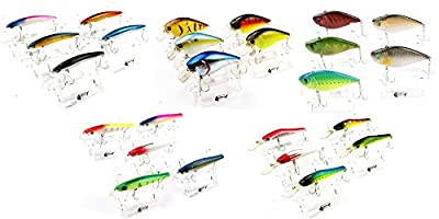 Bravefishermen Crank baits Hooks Minnow Baits Tackle lot of 25 Fishing Lures