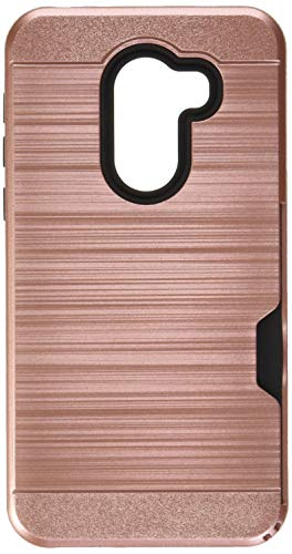 Alcatel REVVL Case (T-Mobile), Alcatel A30 Plus Case,Alcatel A30 Fierce 2017 Case,AnoKe[Card Slots Wallet Holder]TPU Soft Hybrid Shockproof Heavy Duty Cover Case for Alcatel Walters 5.5 KC2 Rose Gold