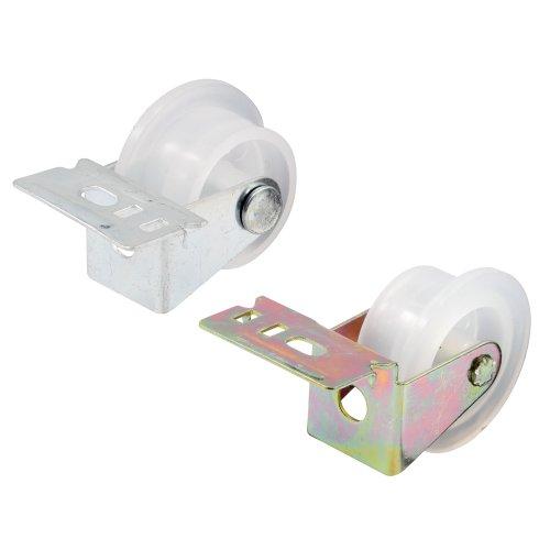 Prime-Line R 7147 Drawer Guide Roller Assembly, 1 in. Outside Diameter, Plastic Wheel on Steel Bracket
