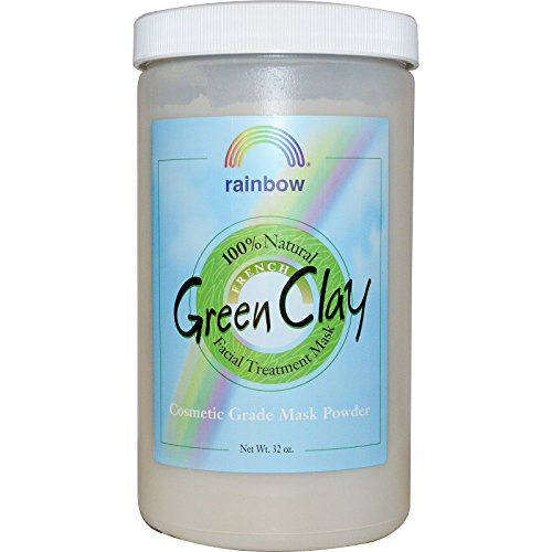 Rainbow Research French Green Clay Facial Treatment Mask Powder 32 oz