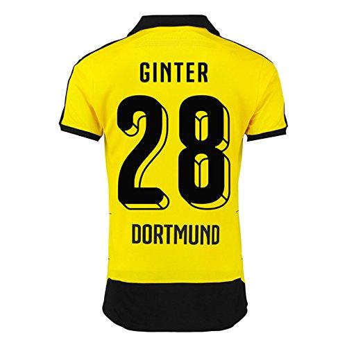 2015-16 Borussia Dortmund Home Shirt (Ginter 28) B072LQGL1ZBlack XXL Adults
