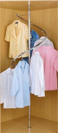 Amazon.com: Rev A Shelf Spiral Clothes Rack Closet Hanging, Chrome: Home U0026  Kitchen