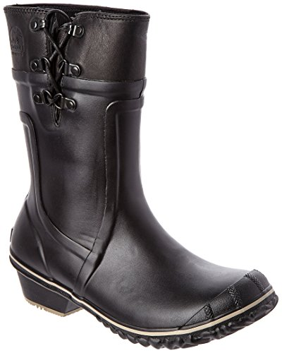 Sorel Women's Conquest Carly Waterproof Leather Boot, 9, Bla