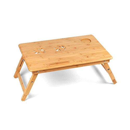 Bamboolifer bamboo-1 1 Laptop Table, Natural by Bamboolifer