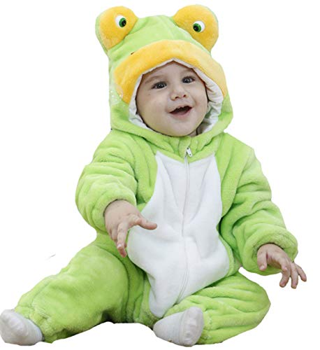 Tonwhar Unisex-Baby Animal Onesie Costume Cartoon Outfit Homewear (110:Ages 24-30 Months, Frog)
