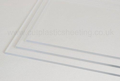 500mm x 500mm Clear Acrylic Perspex Plastic Sheet - 2mm, 3mm, 4mm, 5mm, 6mm, 8mm, 10mm Thicknesses (3mm Thick) by Perspex