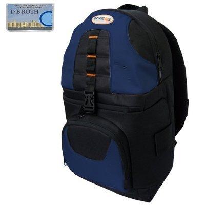 (Deluxe Digital SLR Camera/Camcorder Sling Backpack (Black/Blue) For The Pentax K2000, K200D, K100D, K100D SUPER, K110D,ist DL2,ist DS2,ist DL,ist DS Digital Cameras)