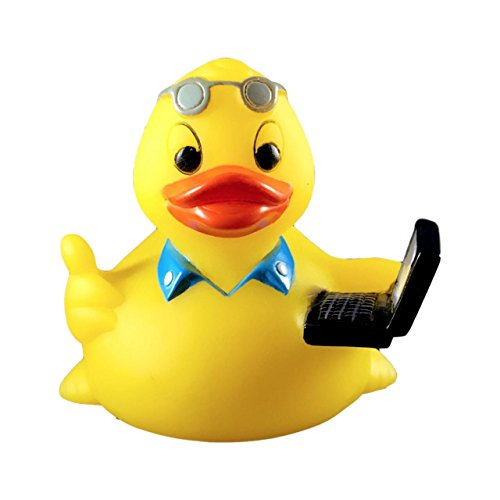Ducky City 3  Office Rubber Duck  Floats Upright    Imaginative Baby Toddler Safe Bathtub Bathing Toy