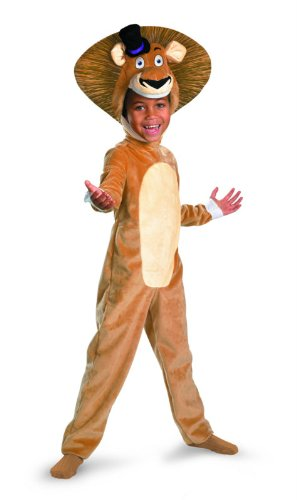Deluxe Penguin Costumes (Madagascar 3 Alex The Lion Deluxe Costume, Brown/Tan, Large)