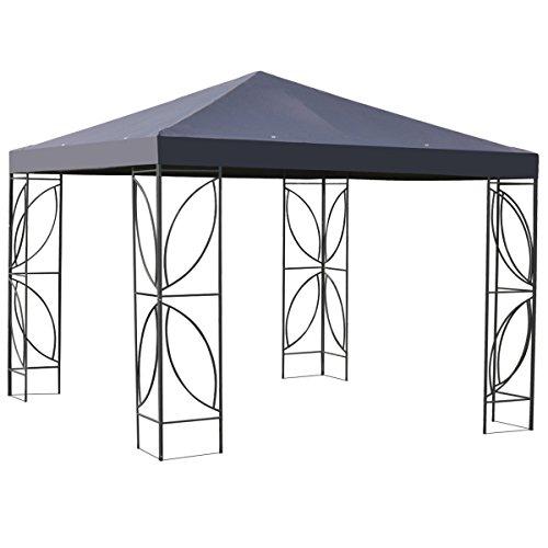 Patio 10' x 10' Square Steel Frame Gazebo Canopy - (Frame Gazebo)