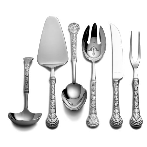 (Wallace 5063008 Autumn Harvest 6-Piece 18/10 Stainless Steel Hostess Set)