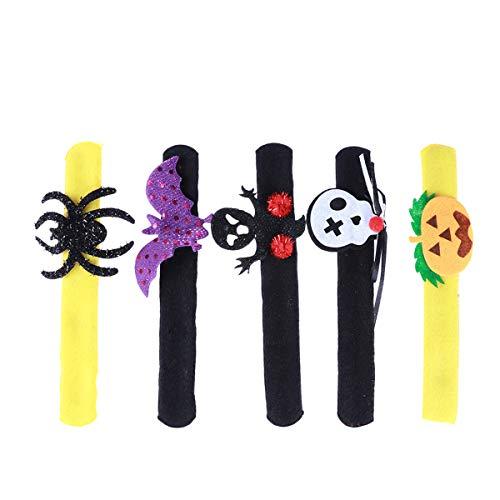 STOBOK 6pcs Halloween Slap Bracelets Adults Kids Cosplay Bracelet Slap Band Halloween Toys Hand Rings Party Supplies