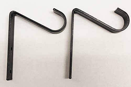 """UPC 691054791671, Wrought Iron Single 1"""" Curtain Rod Hook (2 pack) - Hand Made by the Amish"""