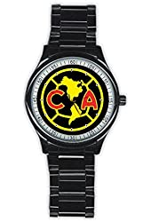 Laron Men's Club America Stainless Steel Round Watch