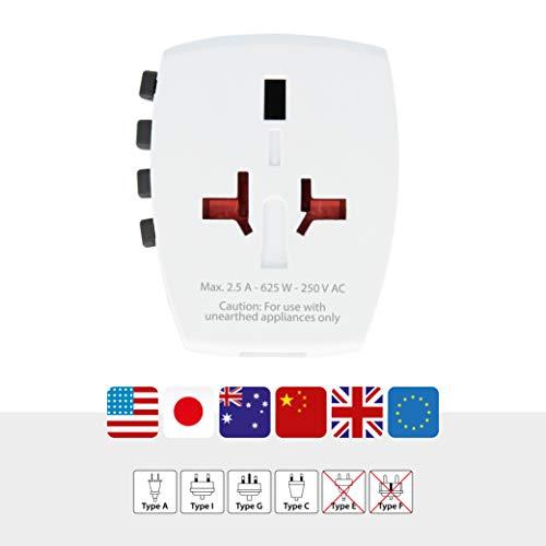 SKROSS 1.30215 - Cargador de viaje universal con puerto USB (150 países, 5 V), blanco: Amazon.es: Electrónica