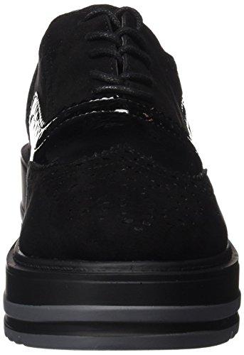 XTI Damen 047331 Schnürhalbschuhe Black (Schwarz)