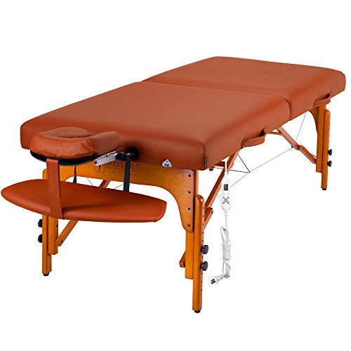 "Master Massage 31"" Santana Therma Top Portable Massage Table Package (Built in Heating Pads)"