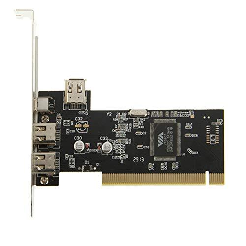 Alta calidad Tarjeta PCI 1394 Express de 2 puertos (Negro ...