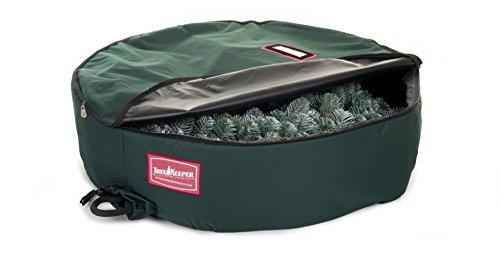 Tree Keeper Wreath Keeper - Artificial Wreath Storage Bag-60 (Green) (60D x 60W x 12H) by TreeKeeper by TreeKeeper