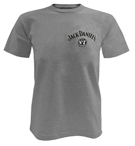 Jack Daniels Men's Daniel's Grey Whiskey Short Sleeve T-Shirt Grey X-Large